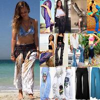 Boho Women Baggy Harem Pants Hippie Wide Leg Gypsy Yoga Long Palazzo Trouser Lot
