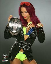 "WWE PHOTO SASHA BANKS W/ NXT WOMENS TITLE OFFICIAL STUDIO WRESTLING 8x10"" PROMO"