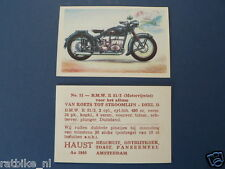 HAUST NO 51 BMW R51/3 MOTORCYCLE   PICTURE STAMP ALBUM CARD,ALBUM PLAATJE