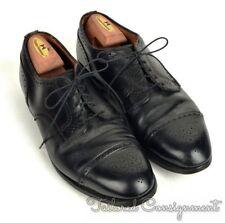 BROOKS BROTHERS Alden Solid Black Leather Cap Toe Oxford Dress Shoes - 10.5 C/E