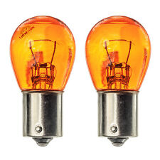 2x BAU15S PY21W Front Rear Indicator Flasher Turn Signal Light Amber Glass Bulbs
