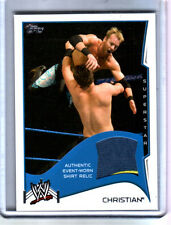 WWE Christian 2014 Topps Event Used Shirt Relic Card 2 Color
