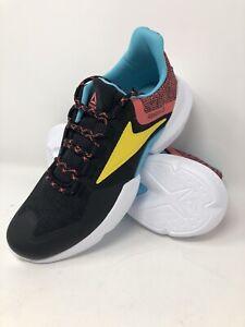 Reebok Split Fuel Unisex Sneakers Black Yellow Red Blue Size 10 Shoes NWT