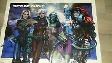 2000 AD Comic - SPACE GIRLS - Fleetway POSTER fROM PROG 1035