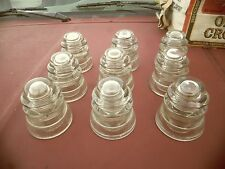 vintage glass insulators armstrong D P 1 lot of 9