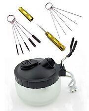 ABEST 4 SET Airbrush Spray Gun Wash Cleaning Tools Needle Nozzle Brush Glass Pot