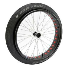 """24"""" FAT WHEELCHAIR WHEEL SET (PAIR) WITH SCHWALBE CRAZY BOB TYRES FOR 1/2"""" AXLES"""