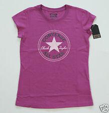 Neuf All Star Converse T-Shirt Enfants Fille Filles Violet