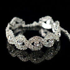 New Deluxe Charm Austrian Crystal Bracelet Women Infinity Rhinestone Bangle Gift