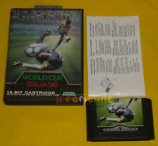 WORLD CUP ITALIA 90 Sega Mega Drive MegaDrive Versione PAL Italiana ••• COMPLETO