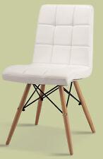 2 x Stuhl PU Leder weiss Designerstuhl Gastronomie für Esstisch Küche Hotel neu