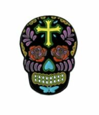 Sugar Skull Enamel Lapel Pin Flowers S003pc Mexico Day of The Dead