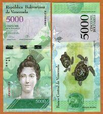 Venezuela, 5000 Bolivares, 2016, P-New,  A-Prefix, New design, denomination UNC