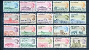 ANTIGUA 1966 SET EX 75C PLUS 1C,2C,4C,5C &10C GLAZED MNH CAT £60+