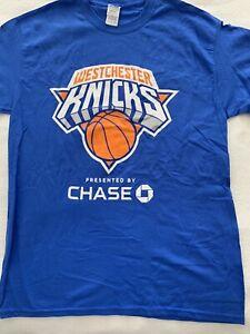 NY KNICKS WESTCHESTER T SHIRT SGA MEDIUM BASKETBALL BLUE CHASE