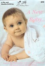 619 A New Baby - 4ply & Double Knitting - over 20 Knitting & Crochet patterns