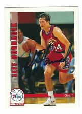 Autographed 1992-93 Sky Box Jeff Hornacek Philadelphia 76er Basketball card #445