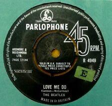 "BEATLES  "" LOVE ME DO ""VRARE UK  7"" BLACK LABEL SOLD IN U.K. TXT & E STICKERED"