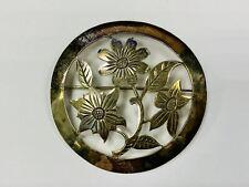 Bijoux Anciens, Broche, 900 Argent, 7,21g, Env. 5cm Grand (43735)