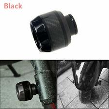 2x Carbon Fiber Aluminum Black Motorcycle Fork Frame Slider Crash Protector NEW