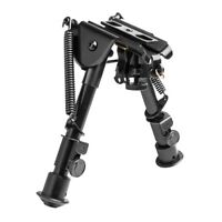 """NcStar ABPGC Harris Style Compact Bi-Pod 5.5"""" - 8.0"""" Tension Legs w/ 3 Adapters"""