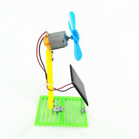 Solar Powered Electric Fans Physics Motor Circuit Device Kit Science DIY Toy