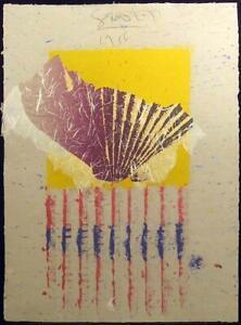 "Scott Sandell ""RR-9"" Signed ORIGINAL Hand Made Paper Artwork 1986 Make Offer!"
