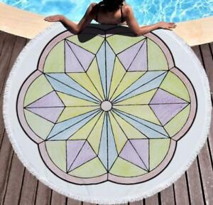 3D Triangular Petals ZHU482 Summer Plush Fleece Blanket Picnic Beach Towel Dry