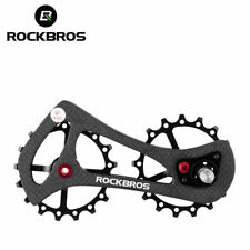 RockBros Full Carbon Fiber Rear Derailleur Bike Bicycle Pulley Wheel Black