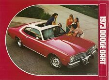 Dodge dart 1973 usa market dépliant vente brochure sport 340 libertin custom