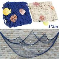 1*2m Fischernetz Fischnetz Muscheln Maritim Strand Wandbehang Fischernetz Dekor