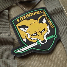 USA FOXHOUND ARMY MILITARY Specia Force TACTICAL PVC PATCH Morale Badge