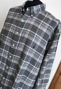 """Ralph Lauren Polo Thick Check Shirt Size 2XLT 62"""" Chest Big & Tall VGC XXLT"""