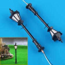 10pcs OO Scale Model Railway Black 3v LED Lamppost Lamps Street Lights 1 75