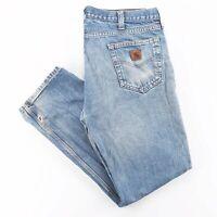 Vintage CARHARTT Traditional Fit Blue Denim Regular Straight Jeans Mens W38 L32