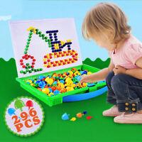 Kinder Kinder Puzzle Peg Board Mit 296 Pegs Lernspielzeug Kreative Geschenke