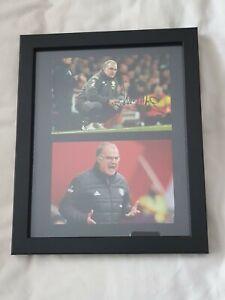 Marcelo Bielsa Leeds United Hand Signed 10x8 Framed Photo With COA