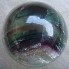 1 PC Natural Rainbow Multi-color Fluorite Crystal Sphere Ball Healing 63mm d284