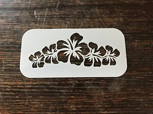 Hibiscus Flower Crown Reusable Stencil Face Painting / Airbrush  Free Uk Postage