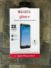 NEW ZAGG InvisibleShield Glass+ Screen Protector for iPhone 6/6s/7