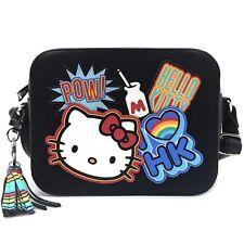 "NEW LOUNGEFLY X HELLO KITTY Black/Multi ""BRIGHT RAINBOW"" Crossbody Handbag -SALE"