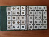 Pièces de monnaies françaises 20ème siècle, dans leur classeur de collection