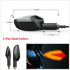 2x Dual Colors V Type Motorcycle Turn Signals Direction Lamp LED Indicator Light