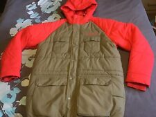 Adidas Originals Mens Padded Jacket Orange & Tan Size Large