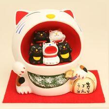 Kyoto Maneki neko Piggy bank Japanese lucky cat Happy Goronyago from japan