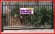 Black Loop and Spear top in Steel, security fence, pool fence,glass fence