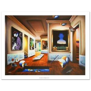 """Ferjo """"Interior with Magritte"""" Signed Limited Edition Giclee on Canvas"""