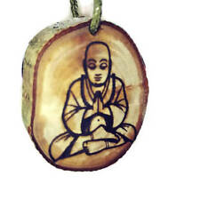Gautama Buddha Wooden Lavender Oil Scented  Car Air Freshener Charm #Buddha