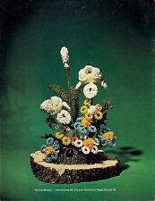 Spring Medley - Iris and Daisies Arrangement Pattern Craft Book:Bloomin' Macrame