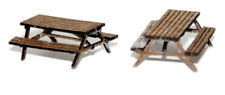 Pair Pub Table/Bench - N gauge unpainted figures Langley A116